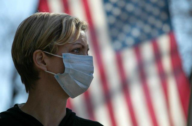 Coronavirus Healthcare Worker With Flag